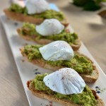 Poached egg on avocado toast, with the fail free way to poach eggs
