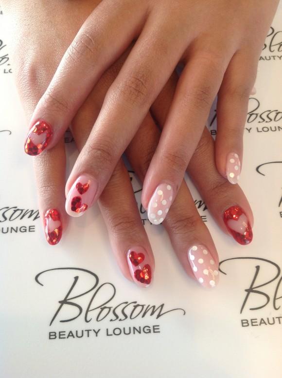 Blossom Beauty Lounge Valentine's Day nail art