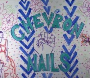 chevron nail art