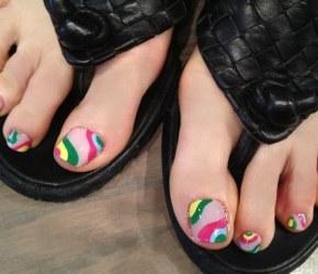 Spring colors nail art