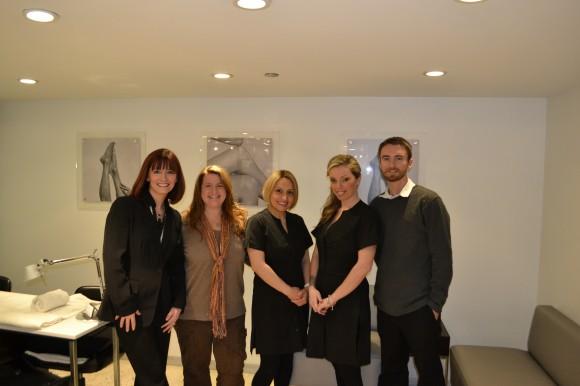 Salon Fanatic editors at Mario Tricoci