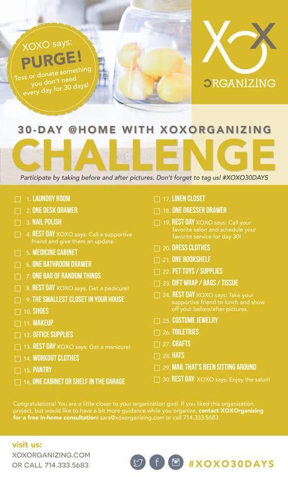 30 days of organizing