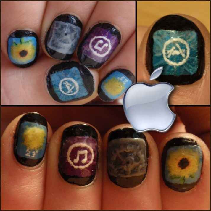 iPhone nail art
