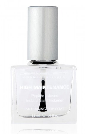 Dermelect High Maintenance Nail Thickener top coat.