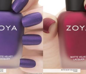 Zoya matte swatches