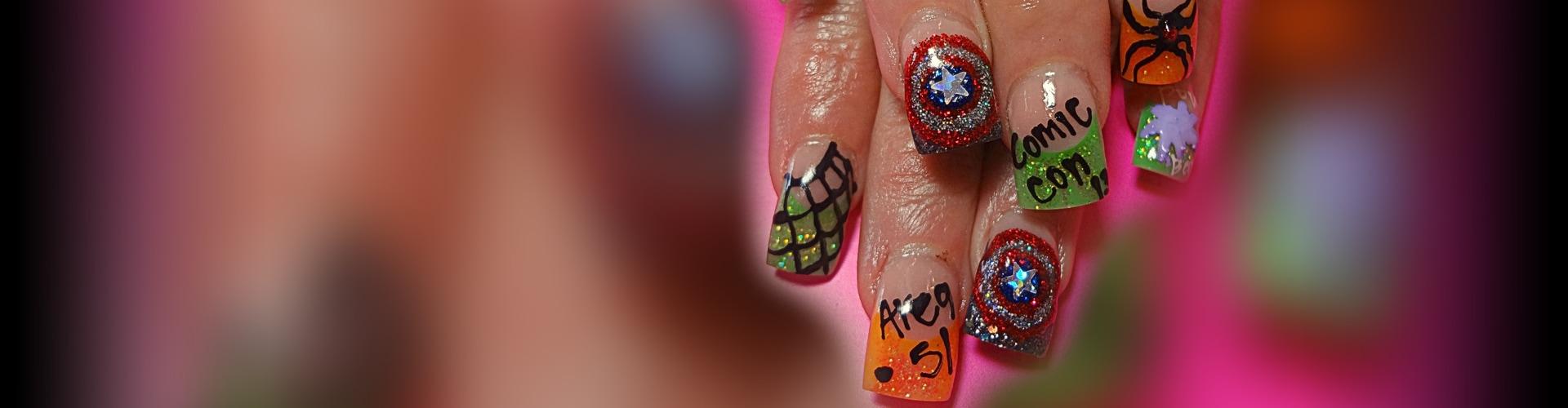 Comic-Con Inspired Nail Art | Salon Fanatic