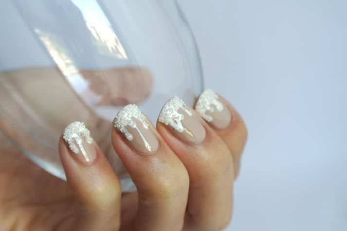 champagne and caviar nail art
