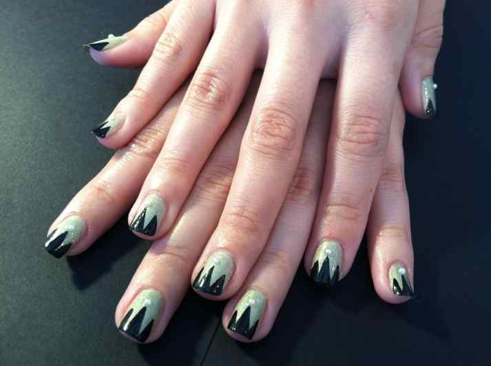 Gatsby inspired nails