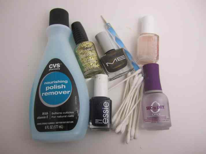 Glitter French Mani Tools & Materials