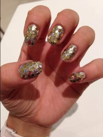 metallic-nail-art