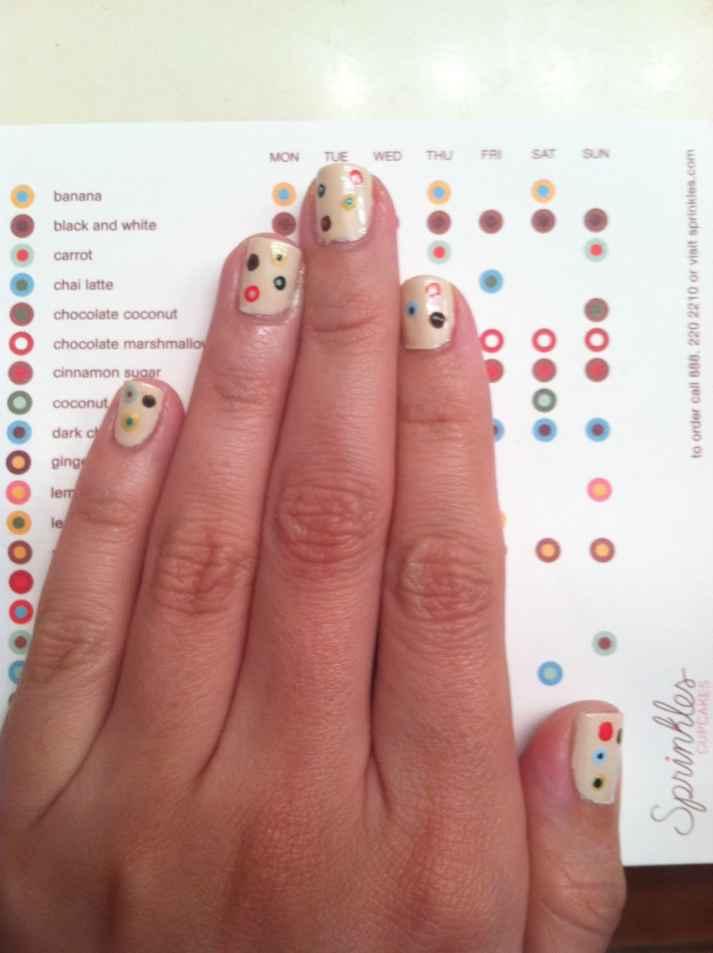 Sprinkles nail art