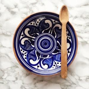 Casa Cubista Keramikschale Salatschüssel Colheita blau