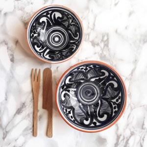 Casa Cubista Portugal Keramikschälchen Colheita schwarz