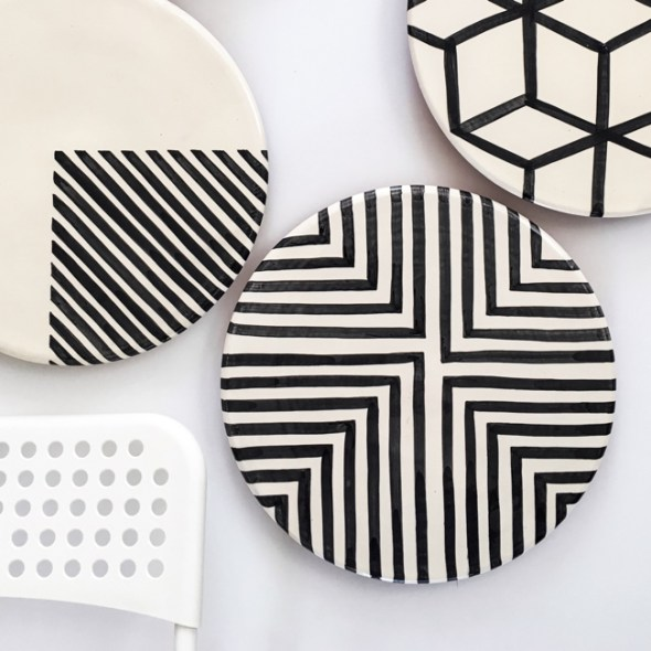 Casa Cubista Portugal Keramik Servierplatte Kuchenplatte