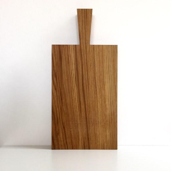 Dickes Holz-Schneidebrett mit Griff Raumgestalt Eiche geölt