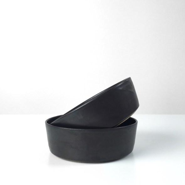 schwarze Keramikschalen klein