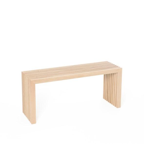 Lamellenbank Raumgestalt Holzbank Eichenlamellen natur 100 cm