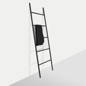 Leiter-Garderobe Holz schwarz Raumgestalt