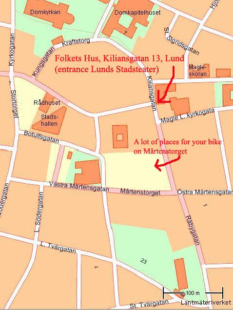 Skräddarsydd karta: Folkets Hus Lund