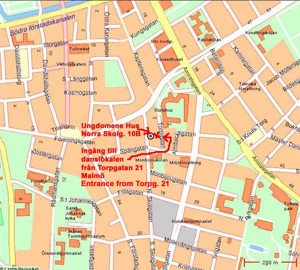 Skräddarsydd karta: Ungdomens Hus Malmö