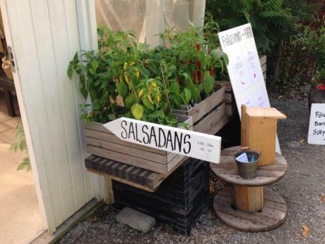 Här var det förberett för salsadans.