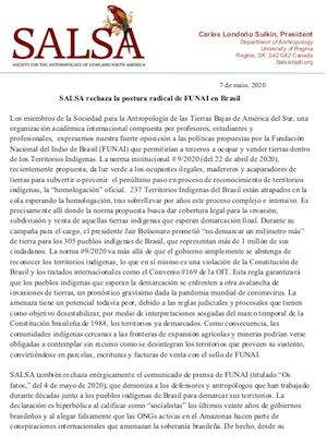 PIAC ESP Carta Funai 7maio 2020