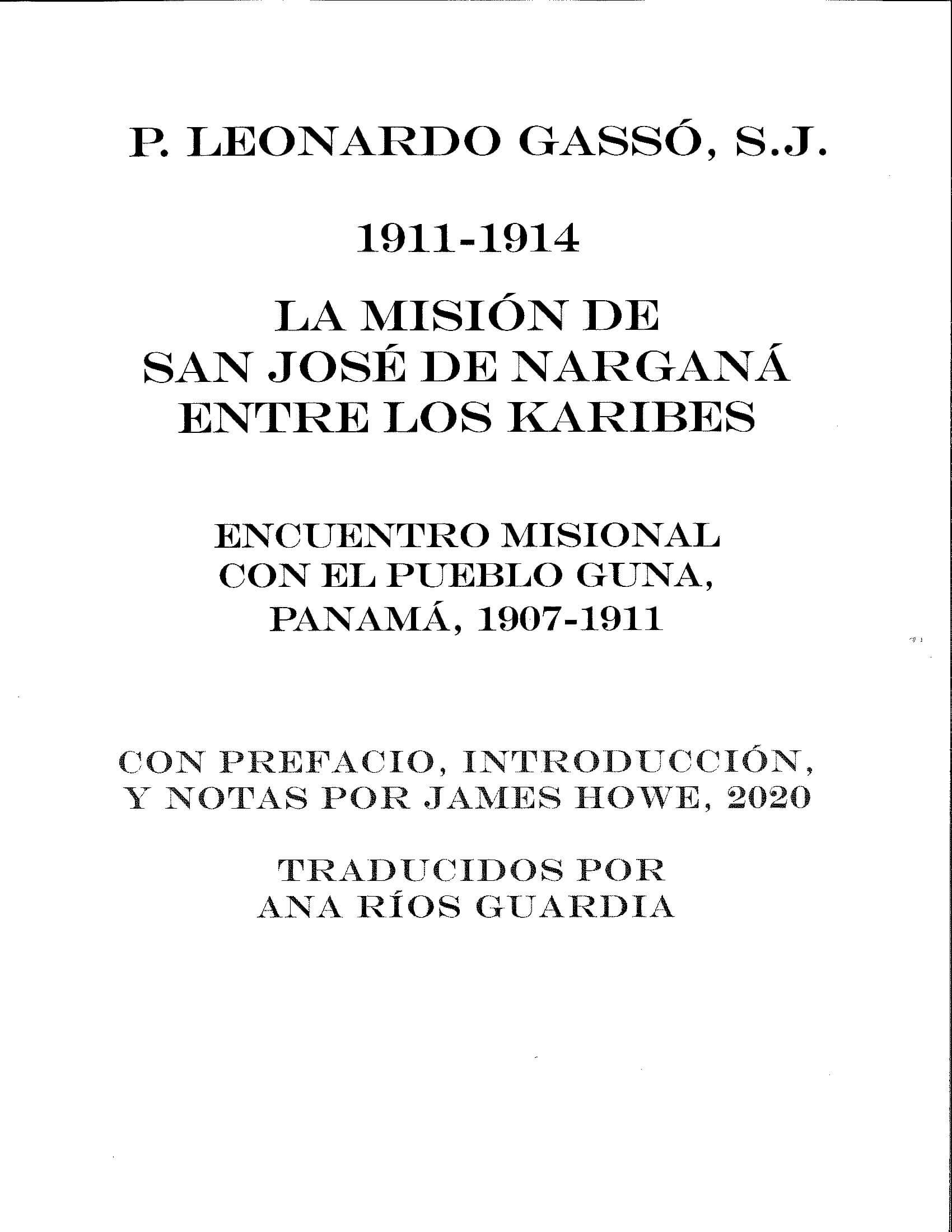 LA MISIÓN DE NARGANÁ, de L. Gassó (intro by J. Howe, 2020)