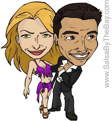 Gabriel Romero and Victoria Ruskovoloshina Caricature