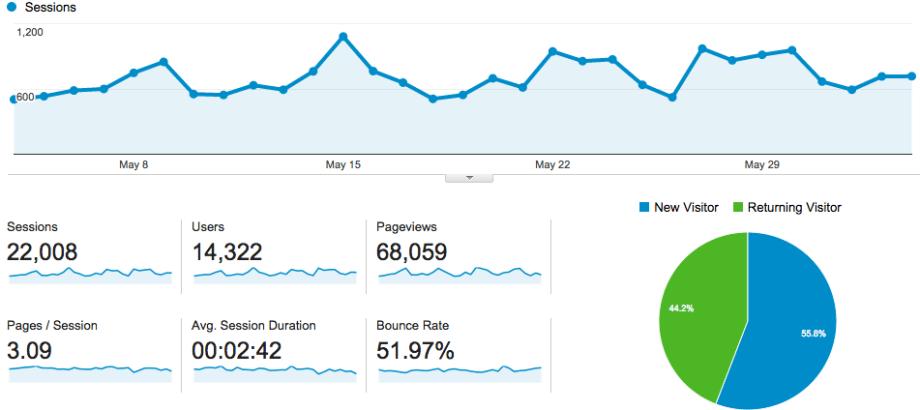 Google Analytics Screenshot