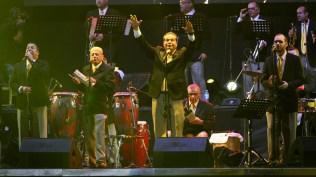 La Sonora Ponceña inició su show al promediar las 20:00 horas del sábado. (Foto: Songoro Media)