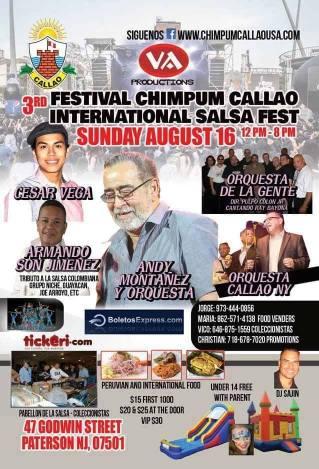 Afiche promocional de evento en Páterson. (Imagen: Facebook/César Vega)