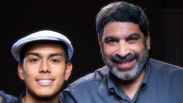 En su primer viaje a Nueva York, César Vega tocó junto a Gilberto Colón Jr., en los estudios Conga Head. (Foto: Martin Cohen)