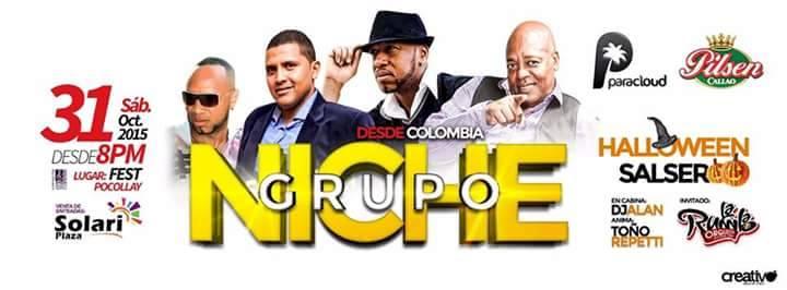 Así es como estos tres acusados se promocionarían como el Grupo Niche, según la página oficial de la agrupación colombiana. (Imagen:Facebook/GrupoNichePáginaOficial)