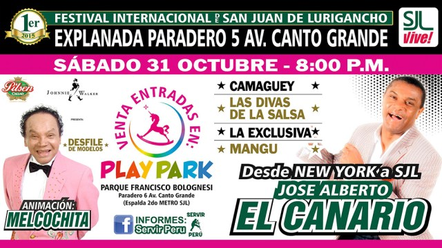 Hace unos meses el cantante dominicano también confirmó que cantará para fin de año en la capital. (Imagen: Facebook/SJL-Vive)