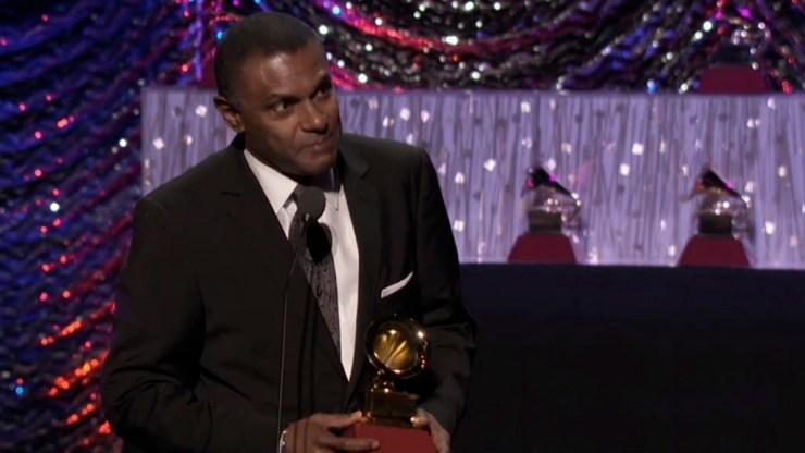 El cantante dominicano agradeció a La Academia por el reconocimiento a su trabajo junto al Septeto Santiaguero. (Captura: latingrammy.com)