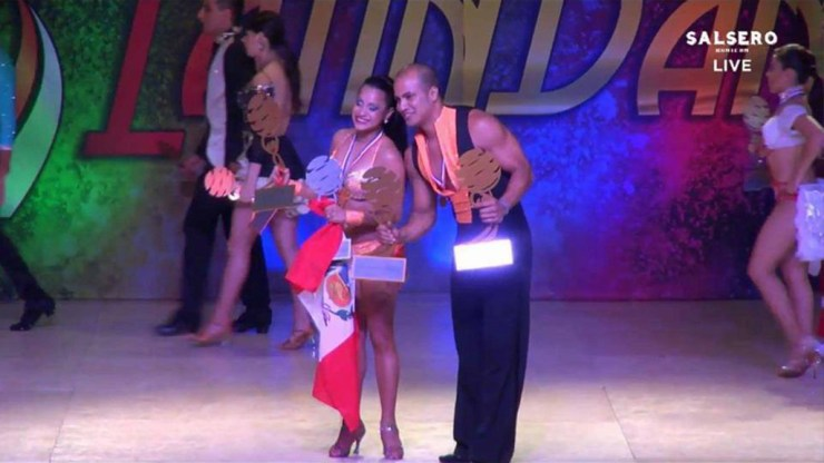 La edición pasada, Natalia Villanueva y Deklan Guzmán quedaron en tercer lugar. Ahora se tomaron la revancha (Foto: captura de Youtube)