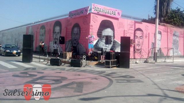 Gente de todos lugares del Callao y de Lima se dio un tiempo para poder escuchar buena salsa. El show duró 2 horas.