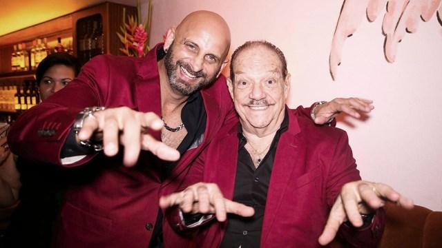 Larry Harlos y Marlow Rosado el día de la presentación de su nuevo álbum. (Foto: Facebook/ElTucanMiami)