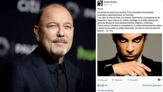 Publicación hecha en Facebook por el cantante panameño. (Foto: Facebook Rubén Blades)
