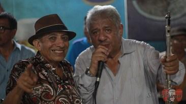 Mocho Bustamante junto al flautista César Vivanco. (Foto: Salserísimo Perú)