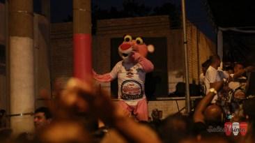 La popular Pantera Zaperokera hizo reír a los asistentes con sus curiosos pasos de salsa. (Foto: Salserísimo Perú)