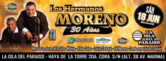 Afiche promocional del show de Los Hermanos Moreno en el Callao. (Imagen: Facebook/LosHermanosMoreno)