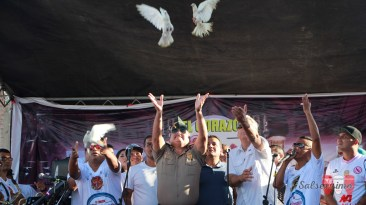 El show fue un esfuerzo en conjunto de las orquestas con la Jefatura Policial Regional del Callao a cargo del General Cluber Aliaga. (Foto: Salserísimo Perú)