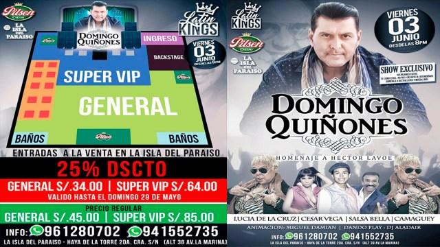 Precio de las entradas para el concierto en La Isla del Paraíso.