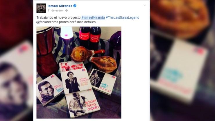Primera publicación de Ismael Miranda sobre su gira 'The last salsa leyend'. (Imagen: Facebook/IsmaelMiranda)