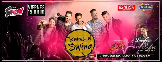 Afiche promocional del concierto de los ex Salserín en Lima. (Imagen: Facebook)