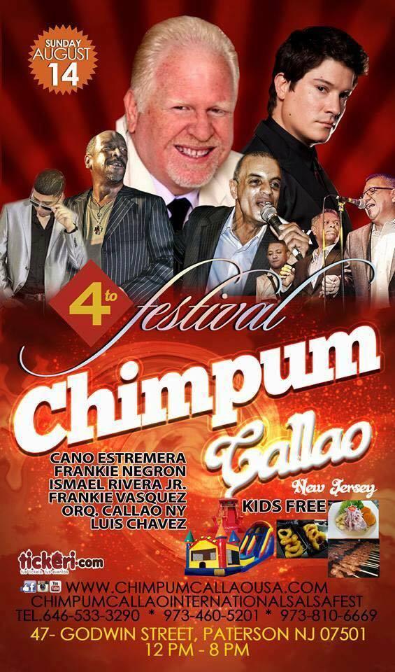 Afiche promocional del Festival Chim Pum Callao de Paterson. (Imagen: Facebook)