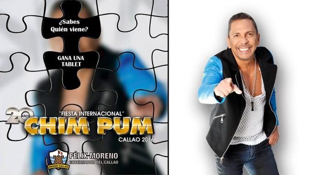Imagen desenfocada (izquierda) y original (derecha) utilizada por el Gobierno Regional para el anuncio del primer invitado al Chim Pum Callao 2016. (Foto: Facebook/AlbertoBarros)