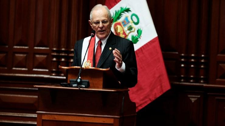 Pedro Pablo hizo esta promesa en el Congreso de la República. (Foto: Andina/CarlosLezama)