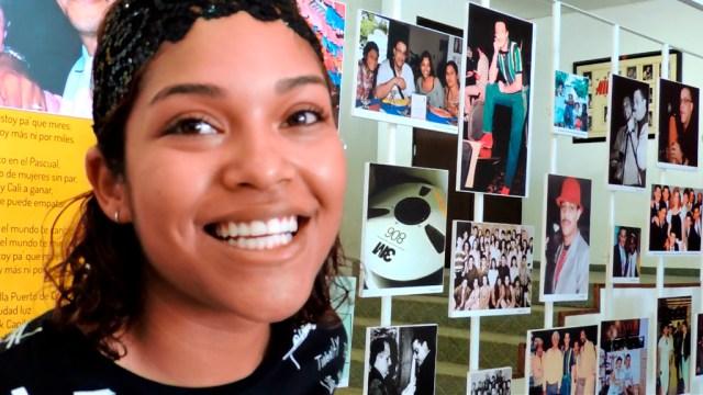 Cristina Varela, hija del maestro Jairo Varela, administra el museo que lleva el nombre de su padre. (Foto: Martín Gómez V.)